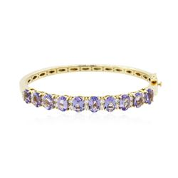 14KT Yellow Gold 8.30 ctw Tanzanite and Diamond Bracelet