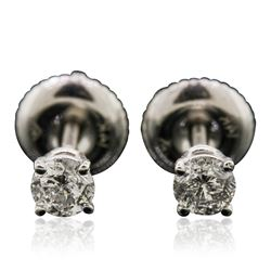 14KT White Gold 0.36 ctw Diamond Stud Earrings