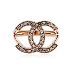 14KT Rose Gold 0.32 ctw Diamond Ring