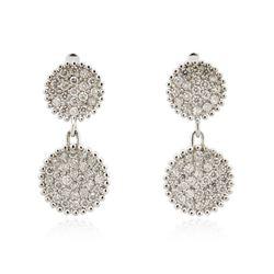 14KT White Gold 1.18 ctw Diamond Earrings