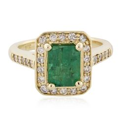 14KT Yellow Gold 2.07 ctw Emerald and Diamond Ring