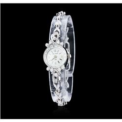 Ladies Bulova 14KT White Gold 0.15 ctw Diamond Wristwatch