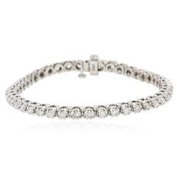 14KT White Gold 3.61 ctw Diamond Tennis  Bracelet