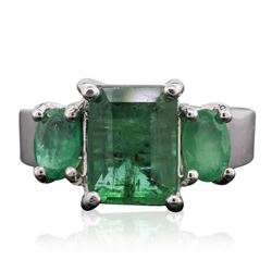 14KT White Gold 4.12 ctw Emerald Ring