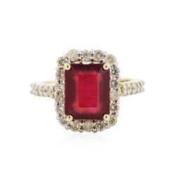 14KT Yellow Gold 5.26 ctw Ruby and Diamond Ring