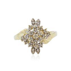 14KT Yellow Gold 0.25 ctw Diamond Ring