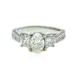 14KT White Gold EGL Certified 2.31 ctw Diamond Ring