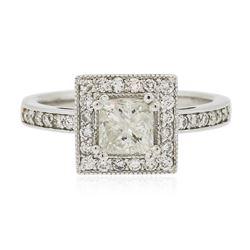 14KT White Gold 1.17 ctw Radiant Cut Diamond Ring
