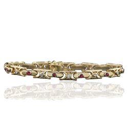 14KT Yellow Gold 0.85 ctw Diamond Bracelet