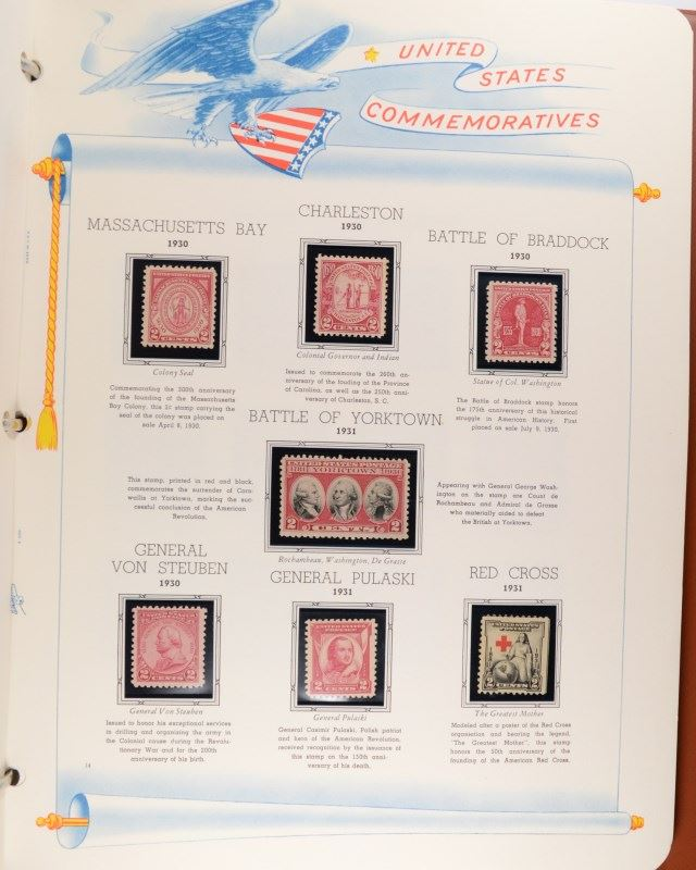 STAMP COLLECTION - THE WHITE ACE HISTORICAL ALBUM for the COMMEMORATIVE  STAMPS