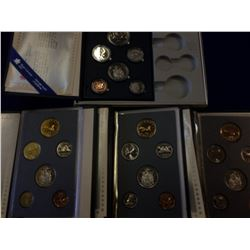 Specimen set 1987, 1988, 1989 & 1990 all in Boxes with COA. Lot of 4 sets.