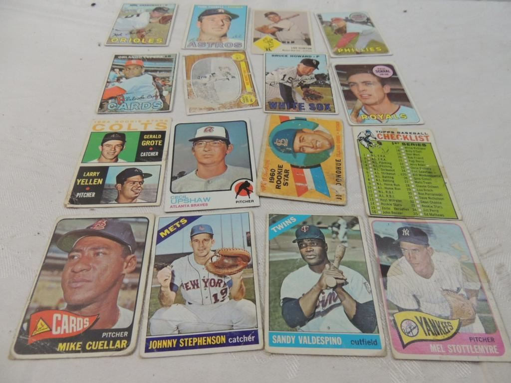 Lot 16 Misc Old Baseball Cards
