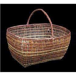 "Northwest Coast Clam Gathering Basket 9 3/4"" L. 8"" W.  Fine Condition"
