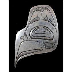 "Northwest Coast Thunderbird Pendant by Elsie John 1971  1 3/4"" H. 1 1/4"" W.  Good Condition"