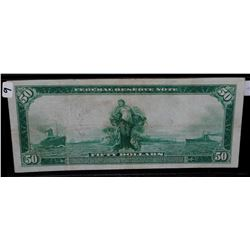 $50 FEDERAL RESERVE NOTE - LARGE SIZE SERIES 1914