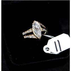 CHOICE 2.02 MARQUISE DIAMOND 14K YELLOW GOLD RING