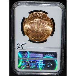 1924 $20 ST. GAUDENS GOLD COIN - NGC MS63