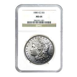 1880-CC $1 Morgan Silver Dollar - NGC MS64