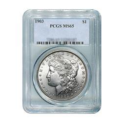 1903 $1 Morgan Silver Dollar - PCGS MS65