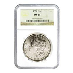 1890 $1 Morgan Silver Dollar - NGC MS64