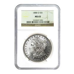 1888-O $1 Morgan Silver Dollar - NGC MS65