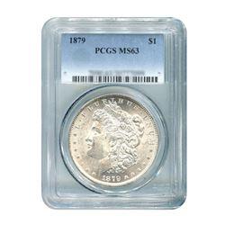 1879 $1 Morgan Silver Dollar - PCGS MS63