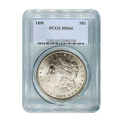 1890 $1 Morgan Silver Dollar - PCGS MS64