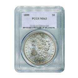 1899 $1 Morgan Silver Dollar - PCGS MS63