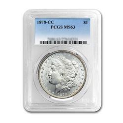 1878-CC $1 Morgan Silver Dollar - PCGS MS63
