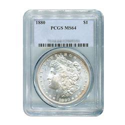 1880 $1 Morgan Silver Dollar - PCGS MS64