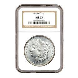 1878-CC $1 Morgan Silver Dollar - NGC MS63
