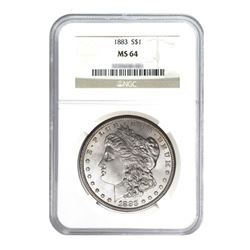 1883 $1 Morgan Silver Dollar - NGC MS64