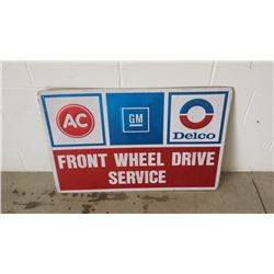 AC Delco Front Wheel Drive Service SST Sign 24x36