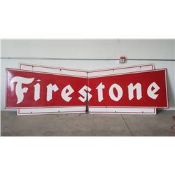 Firestone Bow Tie SSP Sign 4x12ft