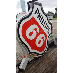 1965 Phillips 66 Orig. 2 Piece Pole with Sign DSP