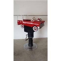 Fire Truck Kiddie Barber Chair