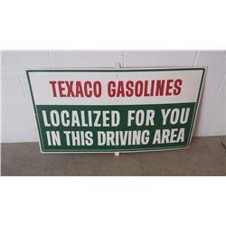 Texaco Gasolines SST Sign 42x24