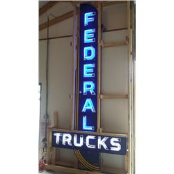 Federal Trucks Neon SSP Sign 70x156in