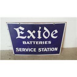 Exide Batteries Service Station Sign DSP 32x23