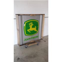 John Deere SS Light Up Sign 48x48