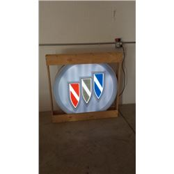 Buick Light Up Sign 42in Round