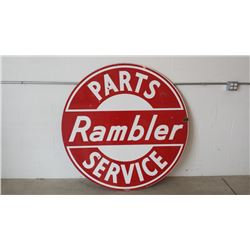 Rambler Parts and Service Sign DSP 60in Round