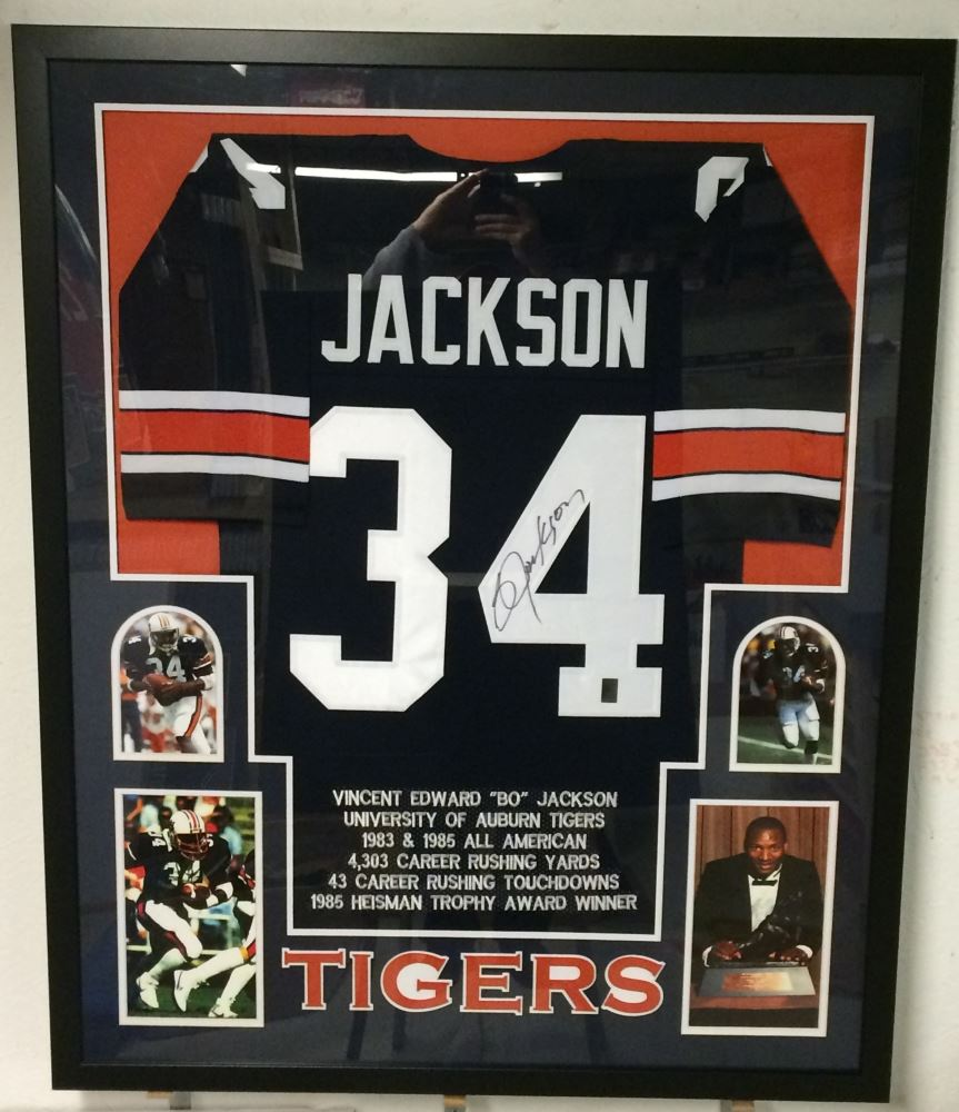 promo code 4763b 4ad0f Bo Jackson Signed Auburn Tigers 35