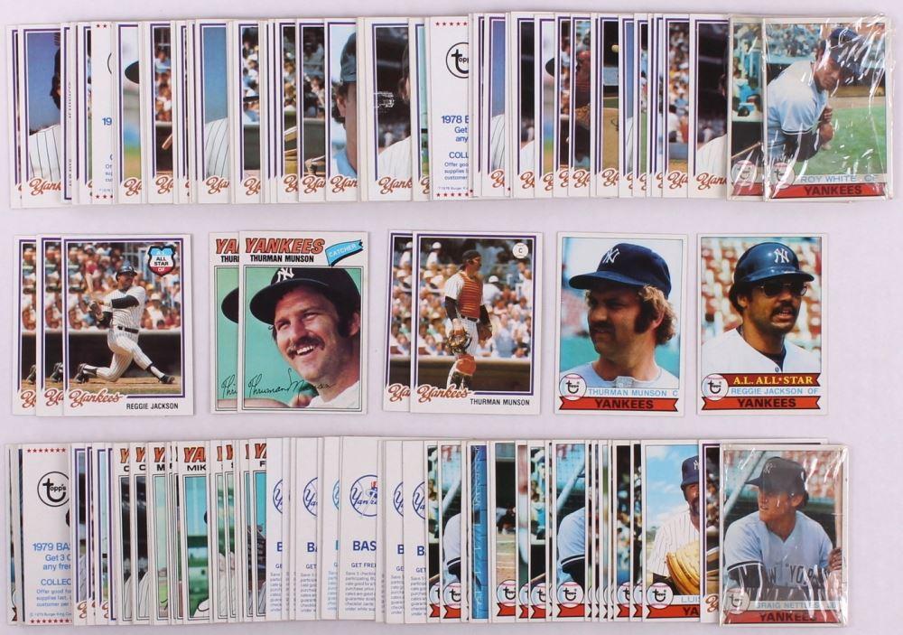 Lot Of 137 1977 79 Yankees Burger King Baseball Cards With 1978