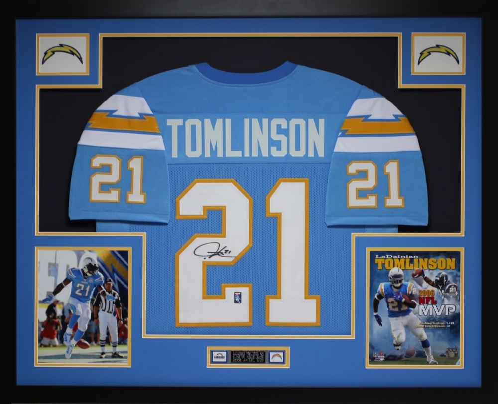 sale retailer 9652f fc6e2 LaDainian Tomlinson Signed Chargers 35