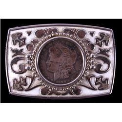 1899 Morgan Silver Dollar Belt Buckle