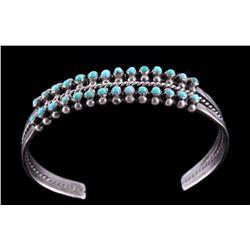 Navajo Pawn Silver & Turquoise Bracelet