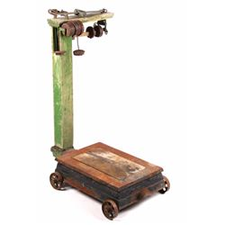 Antique Platform Scale with Weights