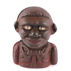 The Little Nigger Cast Iron Bank early 1900's