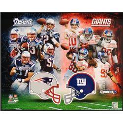 LE Giants vs Patriots Collage Photo Super Bowl XLVI